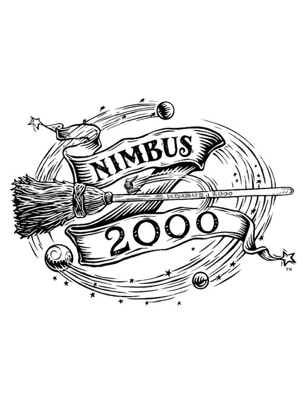 Coloriage a imprimer harry potter le nimbus 2000 gratuit ...