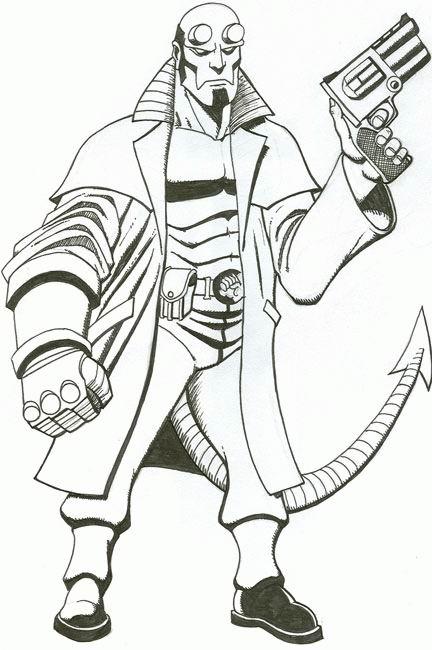 Coloriage a imprimer hellboy arme au poing gratuit et colorier - Coloriage de arme ...