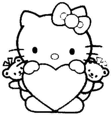 Dessin a colorier de hello kitty - Hello kitty a colorier ...