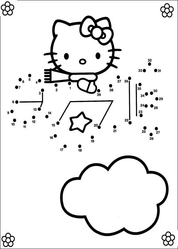 Coloriage point a point a imprimer hello kitty dans son avion gratuit et colorier - Hello kitty a imprimer ...