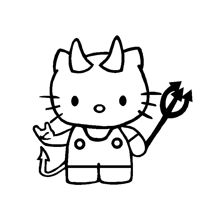 Coloriage a imprimer hello kitty diablotine gratuit et - Coloriage hello kitty a colorier ...