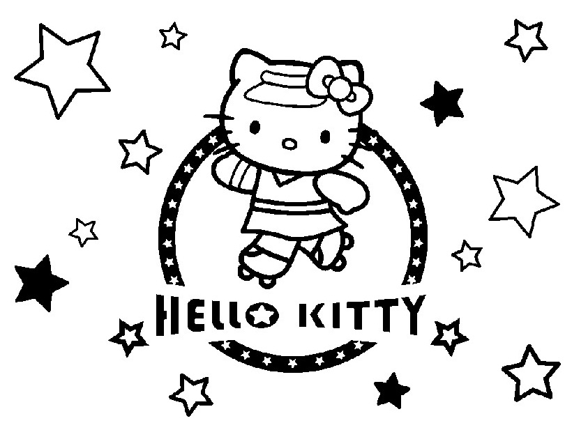 Coloriage a imprimer hello kitty en roller gratuit et colorier - Hello kitty imprimer ...