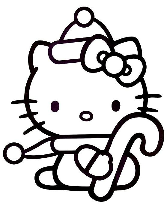 Coloriage a imprimer hello kitty et son sucre d orge de - Coloriage hello kitty gratuit ...
