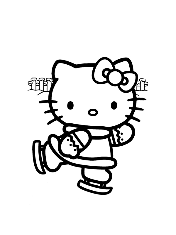 Coloriage a imprimer hello kitty faut du patin a glace - Coloriage hello kitty gratuit ...