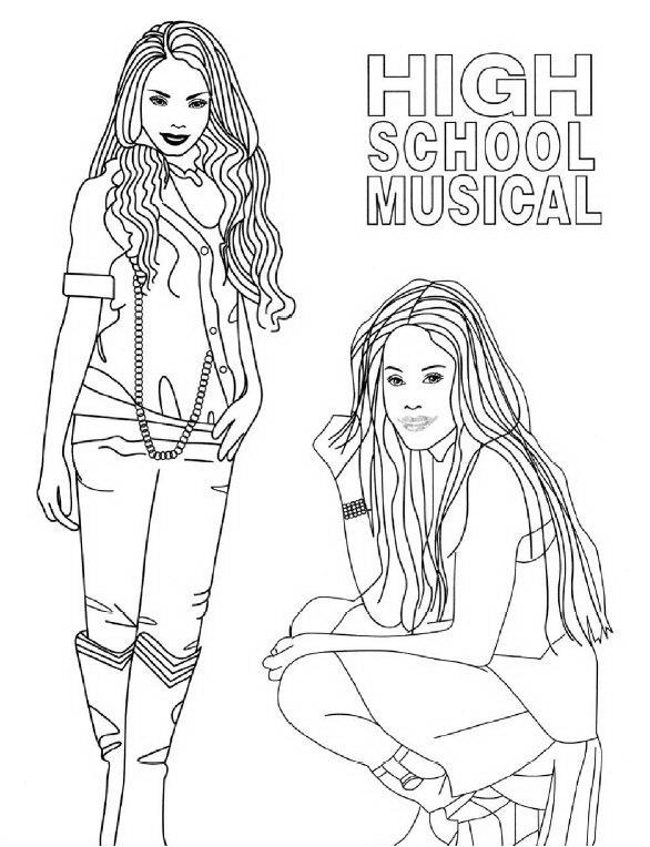 coloriage a imprimer high school musical les filles. Black Bedroom Furniture Sets. Home Design Ideas