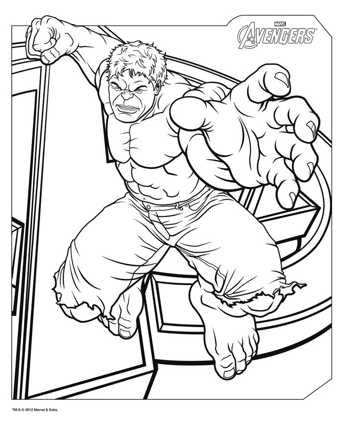 coloriage hulk avengers