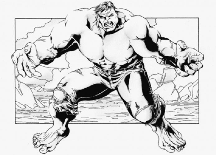 Coloriage A Imprimer Hulk Bras Ouverts Gratuit Et Colorier