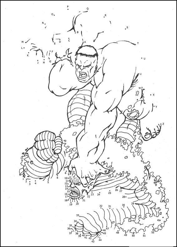 Coloriage point a point a imprimer hulk combat le mechant gratuit et colorier - Coloriage hulk gratuit ...
