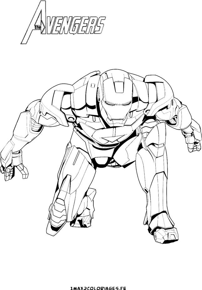 coloriage iron man avengers