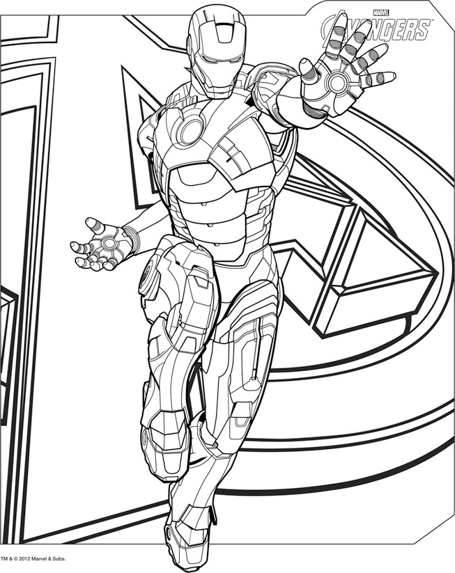 Avengers Symbol Coloring Pages : Free iron man symbol coloring pages
