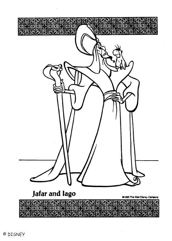 Coloriage a imprimer jafar et lago gratuit et colorier - Dessin a imprimer aladin ...
