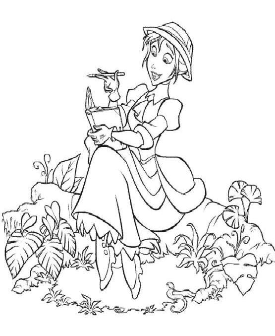 Coloriage a imprimer jane ecrit gratuit et colorier - Tarzan coloriage ...