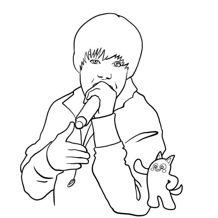 Coloriage a imprimer justin bieber en train de chanter gratuit et colorier - Justin bieber dessin ...