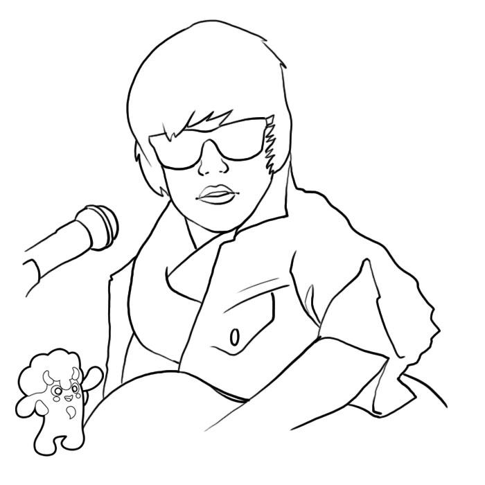 Coloriage a imprimer justin bieber joue de la guitare gratuit et colorier - Justin bieber dessin ...