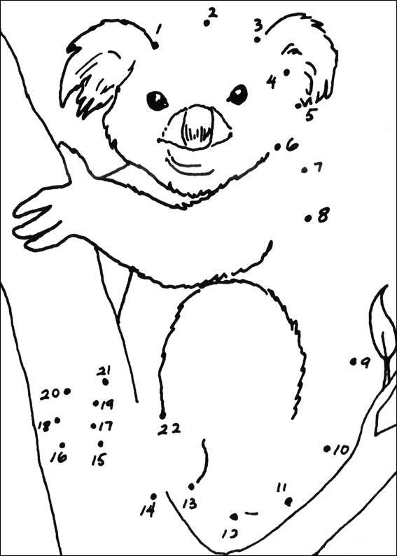 Coloriage point a point a imprimer koala gratuit et colorier - Coloriage mini loup et les pirates ...