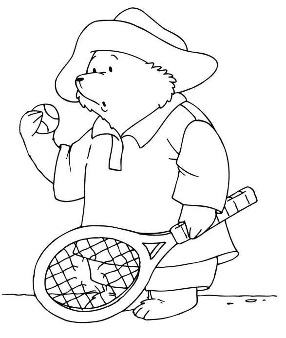 Coloriage a imprimer l ours paddington et sa raquette - Dessin raquette ...