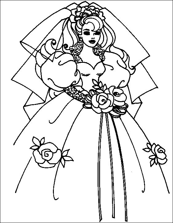 Coloriage Robe De Princesse A Imprimer.Robe De Mariee Dessin Princesse
