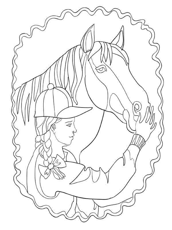Coloriage a imprimer la cavaliere et son cheval gratuit et colorier - Dessin cavaliere ...