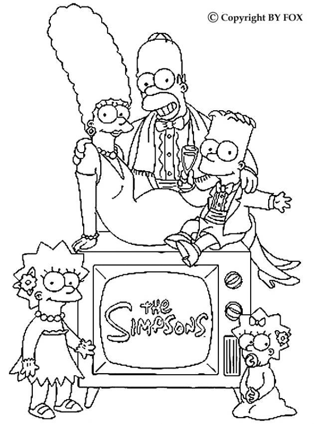 Coloriage a imprimer la famille simpson gratuit et colorier - Coloriage de la famille ...