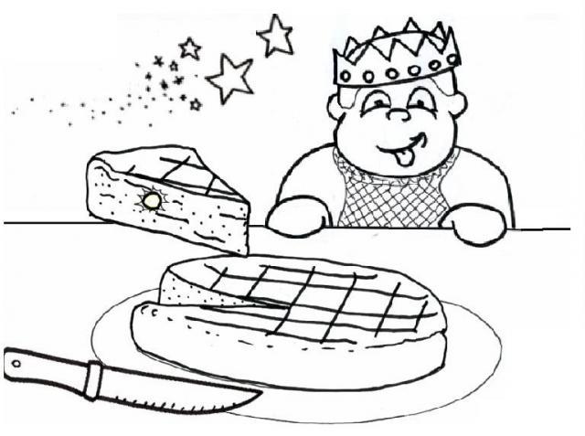 Coloriage a imprimer la feve dans la part de galette des rois gratuit et colorier - Coloriage de galette ...