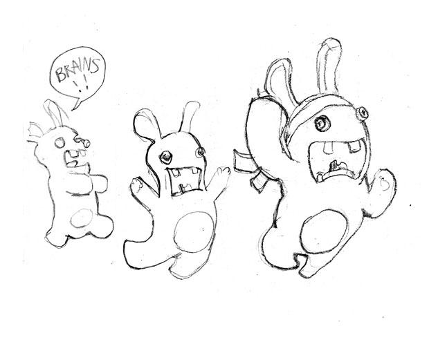 Coloriage a imprimer lapins cretins gratuit et colorier - Lapin cretin a imprimer ...