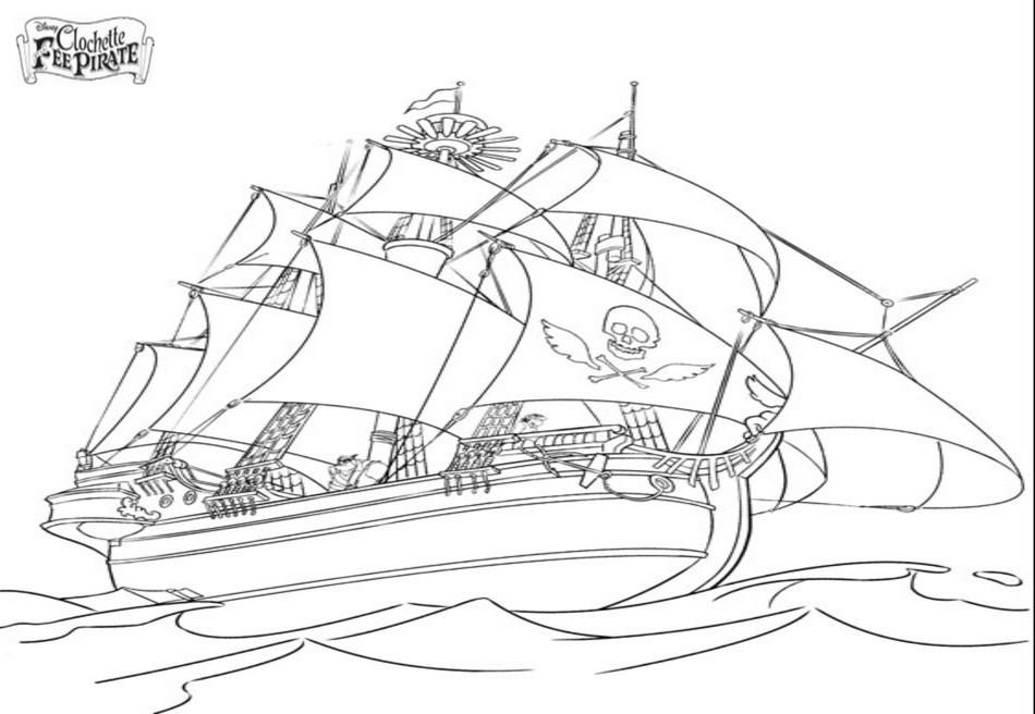 Coloriage A Imprimer Le Bateau Pirate Gratuit Et Colorier