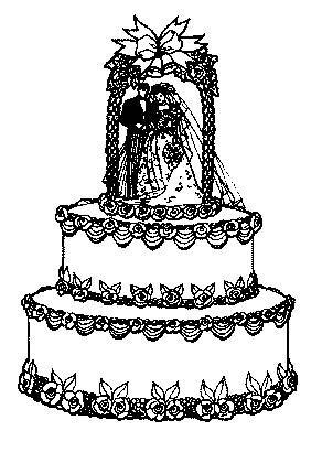Coloriage Gateau A Imprimer Gratuit.Coloriage A Imprimer Le Gateau De Mariage Gratuit Et Colorier