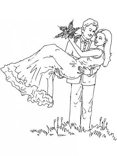 Coloriage a imprimer le marie porte la mariee gratuit et - Coloriage marie ...