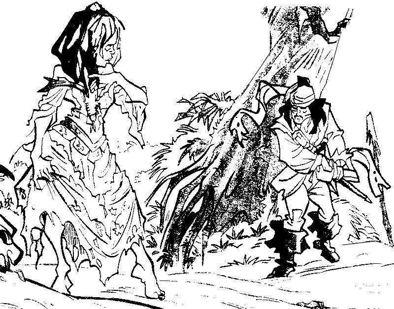 Coloriage a imprimer le pirate des caraibes et la sorciere - Coloriage jack le pirate ...