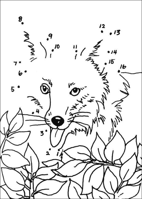 Coloriage point a point a imprimer le renard gratuit et colorier - Dessin point a point ...