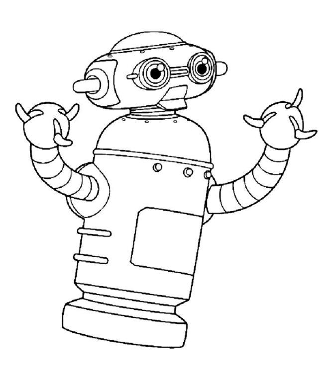 Coloriage a imprimer le robot gratuit et colorier - Coloriage franky le robot ...