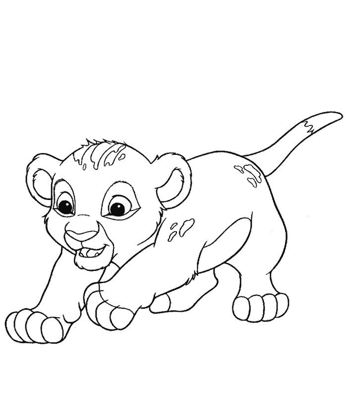 Coloriage lionceau - Coloriages lion ...