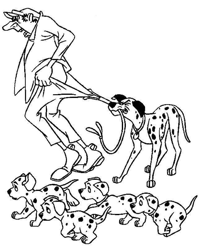 Coloriage a imprimer les 101 dalmatiens et le voleur gratuit et colorier - Coloriage dalmatien ...