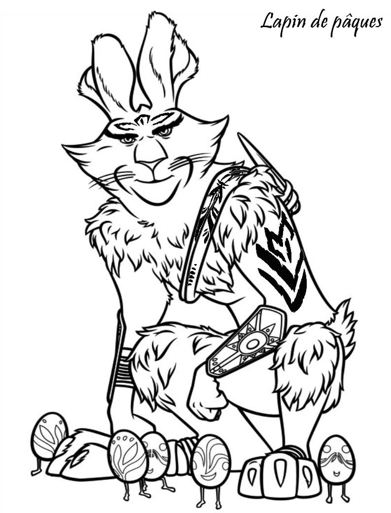 Coloriage a imprimer les 5 legendes lapin de paques - Coloriage lapin paques ...