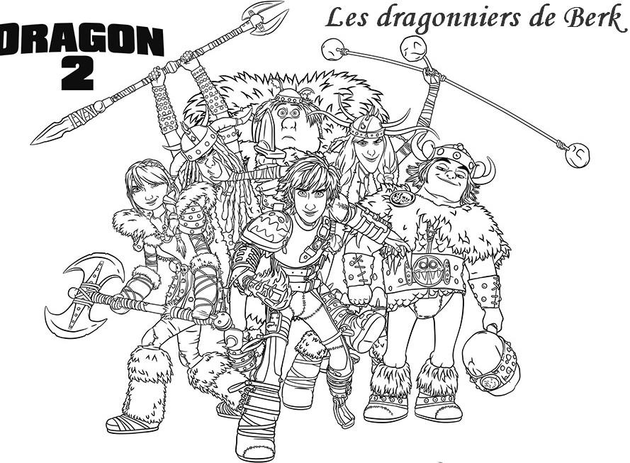Coloriage A Imprimer Les Dragonniers De Berk Dragons 2 Gratuit Et