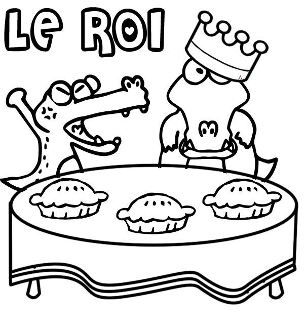 Coloriage a imprimer les galette des rois gratuit et colorier - Dessin sur galette des rois ...
