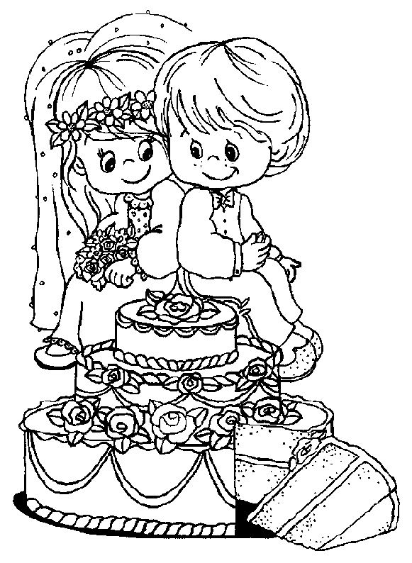 Coloriage a imprimer les jeunes maries gratuit et colorier - Coloriage maries ...