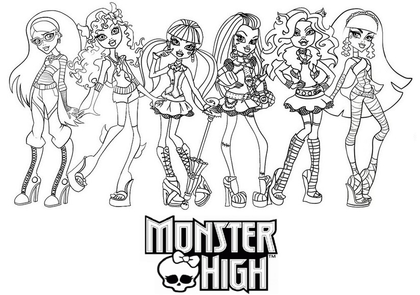 Coloriage a imprimer les monster high gratuit et colorier - Comment dessiner une monster high ...