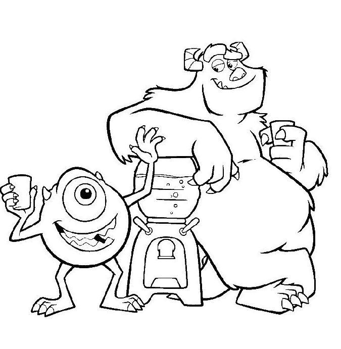Coloriage a imprimer les monstres boivent un verre gratuit - Verre coloriage ...