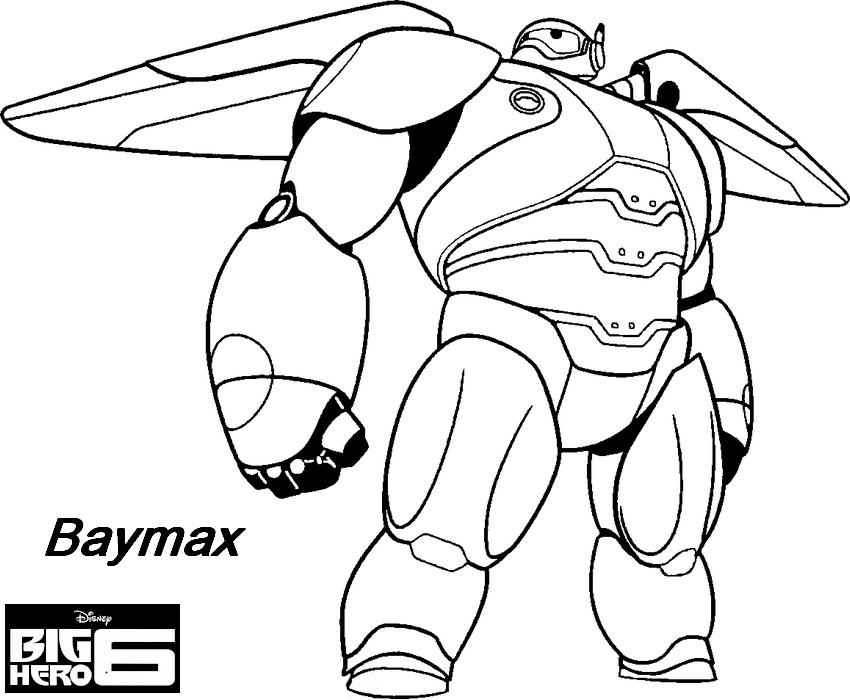 Coloriage a imprimer les nouveaux heros baymax en tenue de - Dessin de heros ...