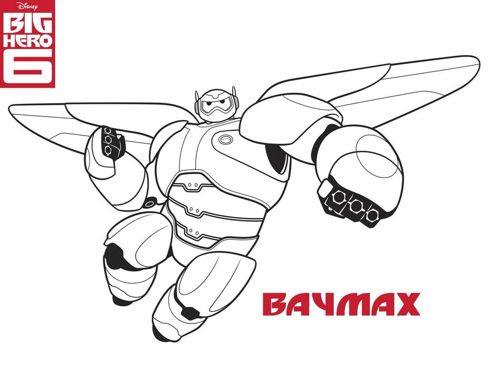 Coloriage a imprimer les nouveaux heros baymax gratuit et - Dessin de heros ...