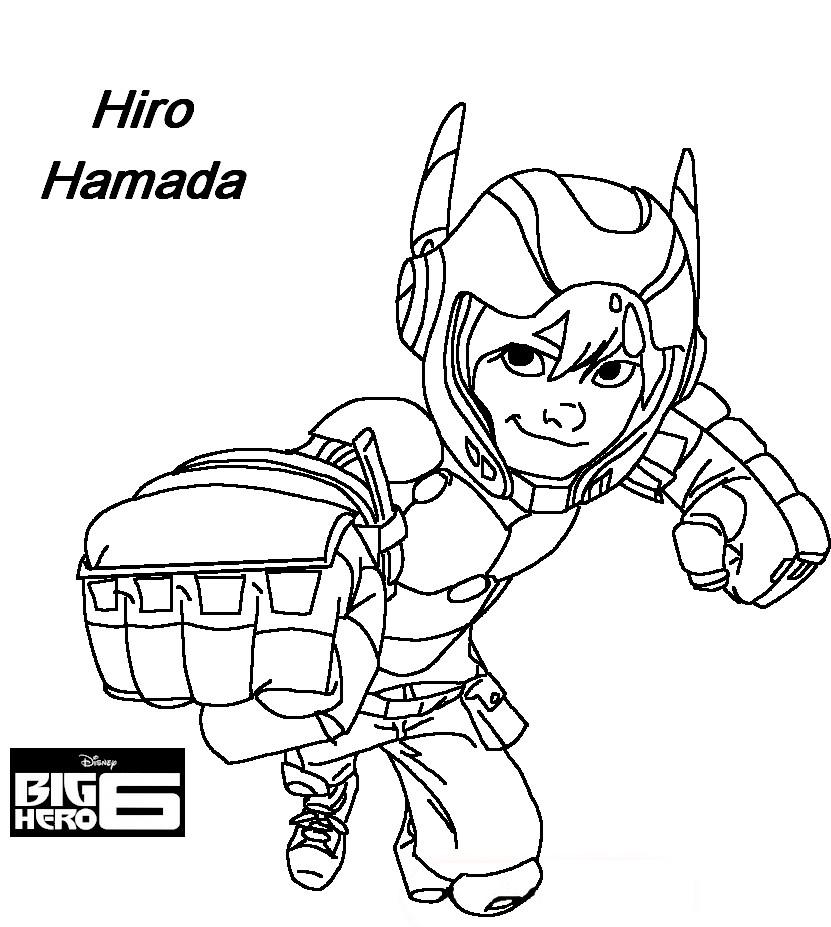 Coloriage a imprimer les nouveaux heros hiro hamada poing ...
