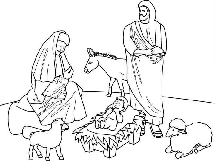 Coloriage A Imprimer Les Santons Et La Creche De Noel