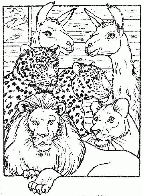 Coloriage a imprimer lion lionne jaguars et lamas gratuit et colorier - Images de lions a imprimer ...