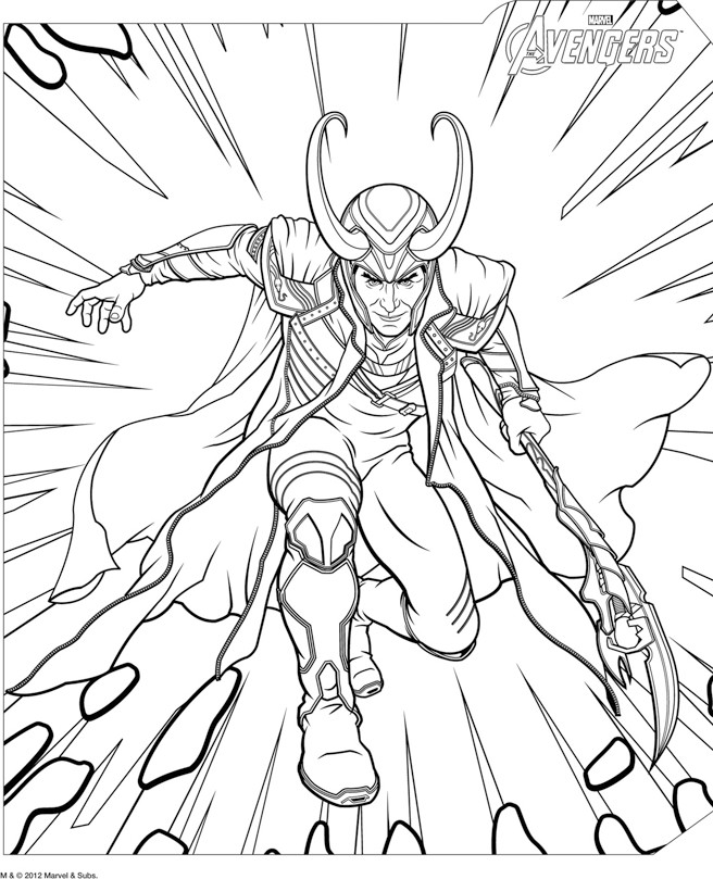 Images of Lego Loki Coloring Pages - #SpaceHero