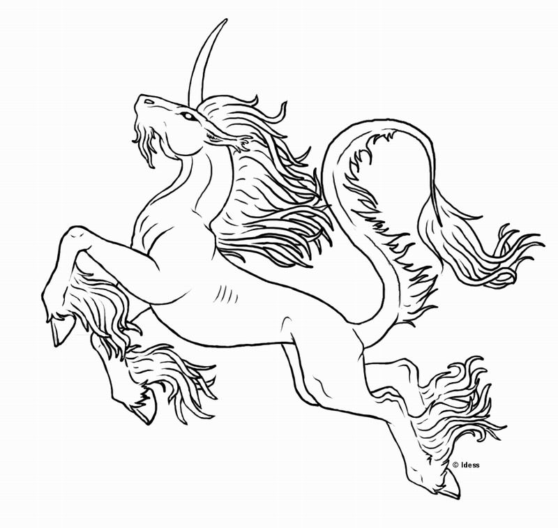 Coloriage a imprimer magnifique licorne gratuit et colorier - Dessin de cheval magnifique ...