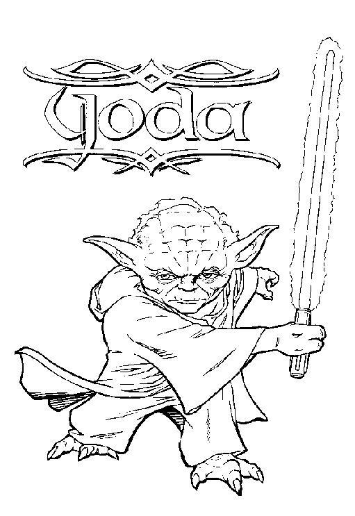 Coloriage a imprimer maitre yoda gratuit et colorier - Star wars coloriage gratuit ...