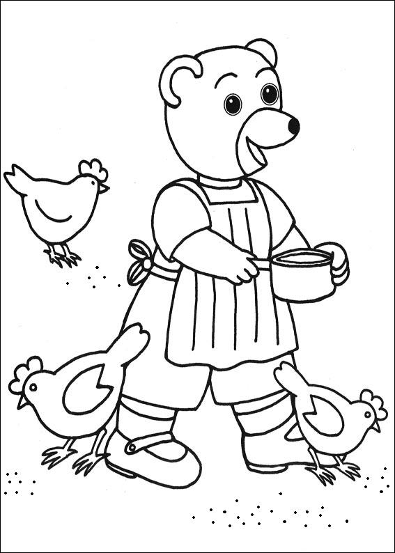 Coloriage a imprimer maman ours donne du grain aux poules - Coloriage petit ours brun a imprimer ...