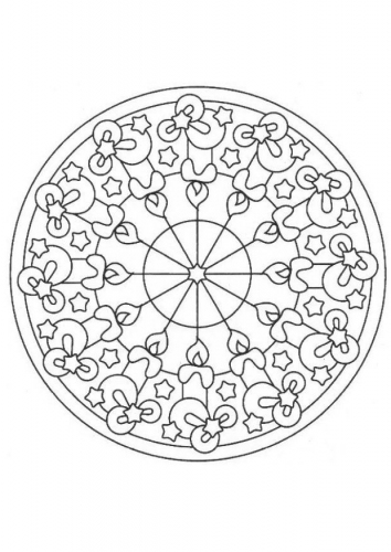 coloriage a imprimer mandala bougies de noel gratuit et colorier. Black Bedroom Furniture Sets. Home Design Ideas