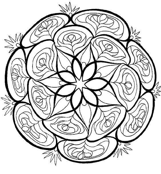 Coloriage a imprimer mandala bouquet de roses gratuit et colorier